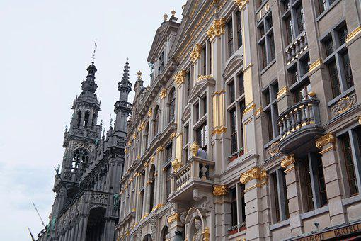 Town Hall, Facade, Munich, Architecture, Gold, Stucco