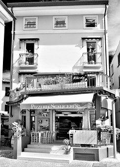 Pizzeria, Sirmione, Eat, Garda, Architecture