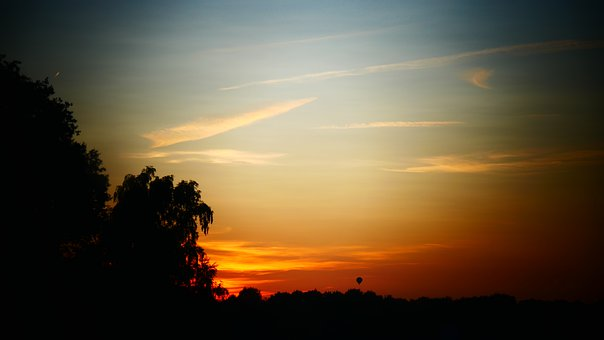 Silout, Sunset, Sunrise, Color, Colorful, Evening