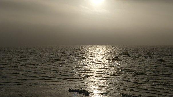 Foggy, Sundown, Sea, Sunset, Peaceful, Coast, Romantic