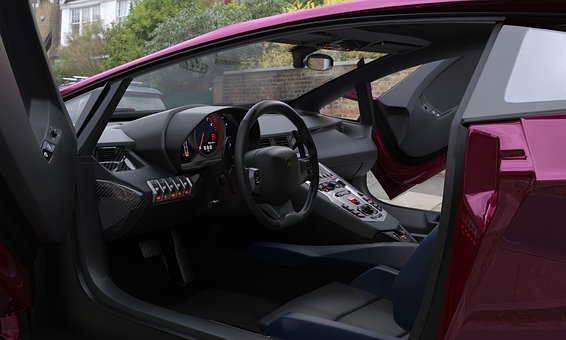 The Interior Of The Vehicle With A Sporty