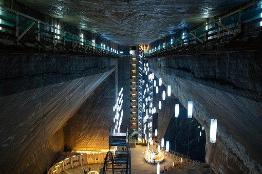 Salt Mine, Salt, Mine, Underground, Turda, Transylvania