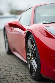 Ferrari In Red, Sports Car, Dream Car, Sporty, Vehicle