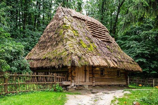 Ukraine, Open Air Museum, Cottage, Landscape, Village