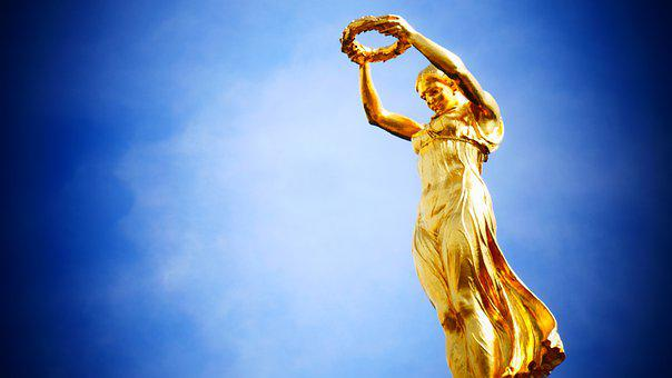 Luxembourg, Gold, Statue, Monument, Sculpture, Vote