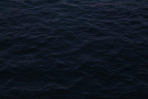 Atmospheric, Dark, Black, Blue, Water, Waves