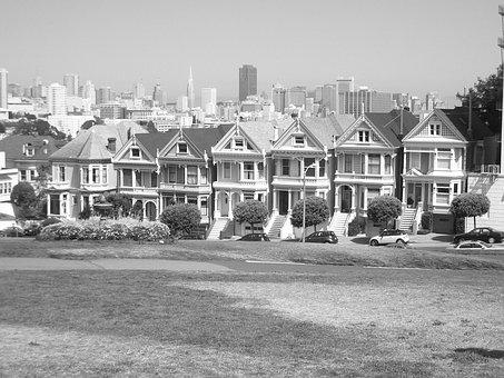 San Francisco, Alamo Square, California