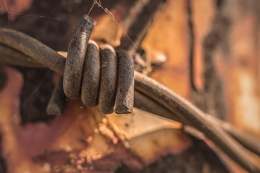 Urban, Industrial, Background, Barbed Wire, Rust, Rusty