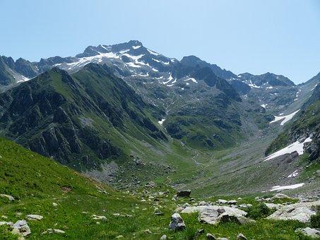 Mountains, View, Valley, Idyllic, Beautiful, Hiking