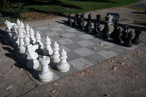 Chess, Chess Board, Chess Pieces, Black, White