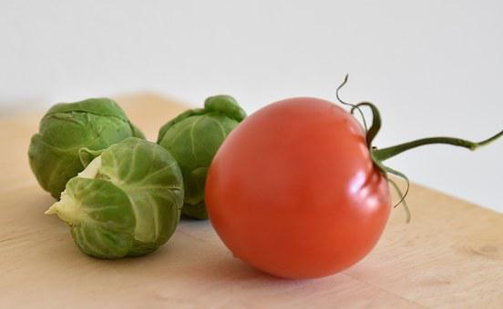 Brussels Sprout, Tomato, Healthy, Food, Brussels