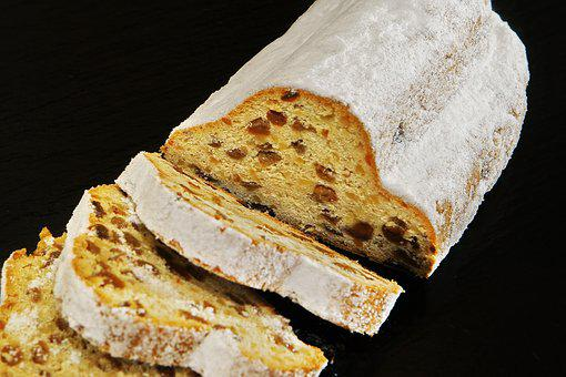 Christmas Stollen, Cake, Dining, Beautiful, Sweet
