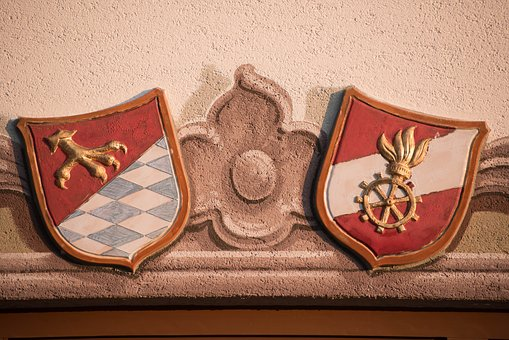 Coat Of Arms, Community Crest, Facade, Fire