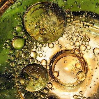 Bubbles, Fantasy, Green, Design, Blue, Light, Bright