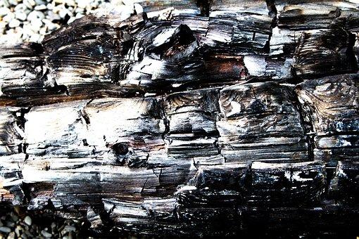 Burned, Wood, Driftwood, Coal, Residues, Fire, Heat
