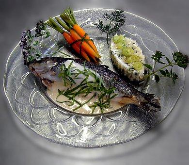 Brook Trout, Main Course, Trout, Fish, Court, Gourmet