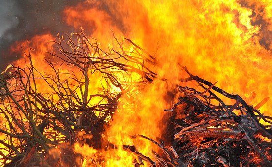 Fire, Bonfire, Flame, Hot, Smoke, Sparks, Inferno