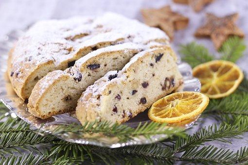 Christmas Stollen, Christmas Sweets, Fruitcake, Tunnel