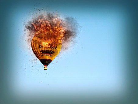 Hot Air Balloon, Fire, Hot Air Balloon Ride