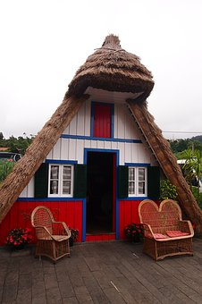 Cottage, Reed, Portugal, Hut, Small, House