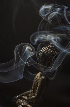 Buddha, Smoke, Buddhism, Incense, Stone, Aroma, Smell