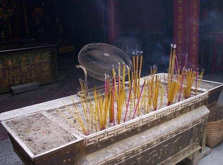 Incense, Burning, Macau, Rite, Cult, Tradition, Belief