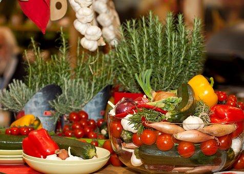 Vegetables, Mediterranean, Herbs, Vegetarian, Food