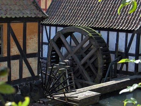 Mill Dawn, Mill, Paddle Wheel
