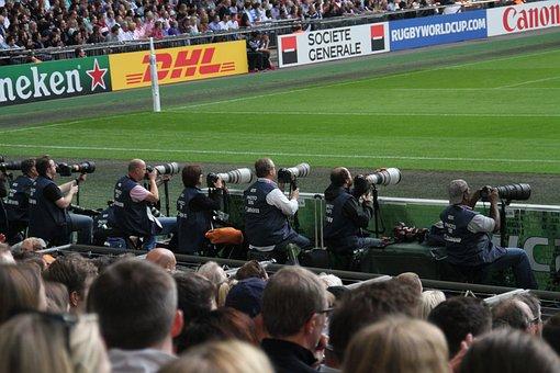 Rugby, Camera Men, World, Cup, Stadium, Sport, Wembley