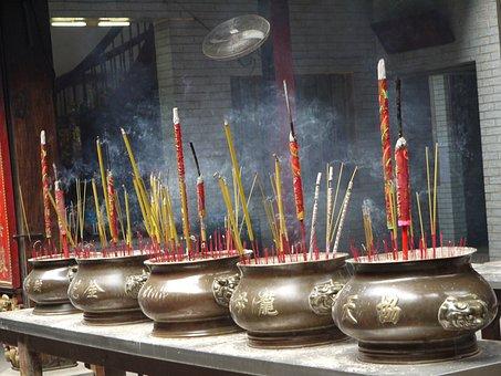 Incense, Joss, Asian, Buddhism, Smoke, Religion, Stick