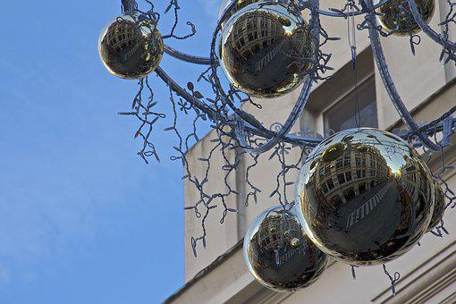 Balls, Christmas, Brussels, Street, Ornaments