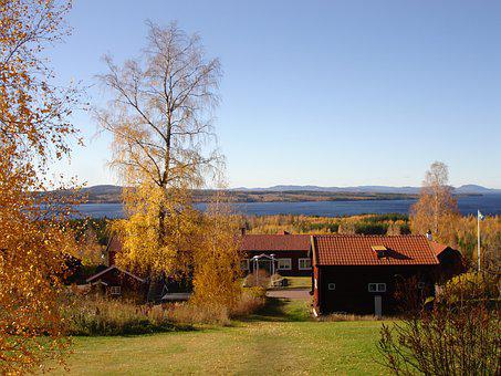 Landscapes, The Valleys, Tällberg, Beautifully, Sweden