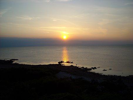 Sunset, Sea, Solar, Summer, Sweden, Nature, Twilight