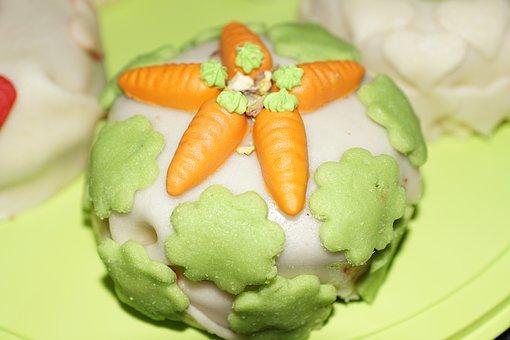 Cake, Marzipan, Carrots, Bake, Easter, Sweet, Klee