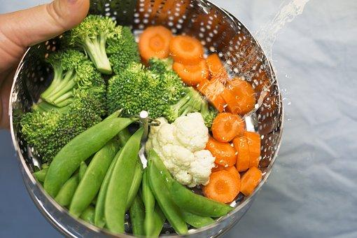 Steam, Vegetables, Beans, Broccoli, Steamed, Green