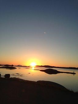 Sunset, Solar, Sea, Water, Himmel, Sky Blue