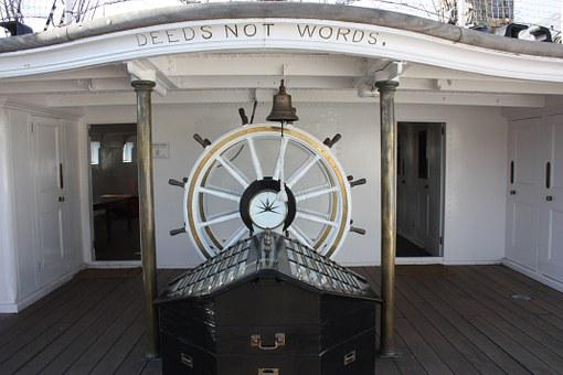 Wheelhouse, Steering, Wheel, Ship, Sailing, Sea, Ocean