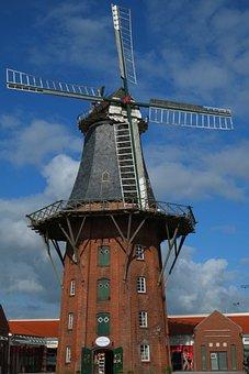 Mill, Windmill, Wing, Historic Preservation, Millstone