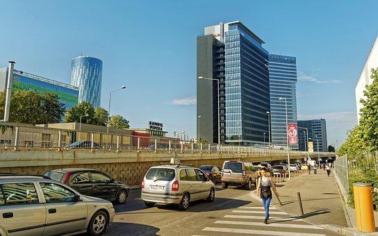 Landscape, Urban, Buildings, High, Towers, Passage, Air