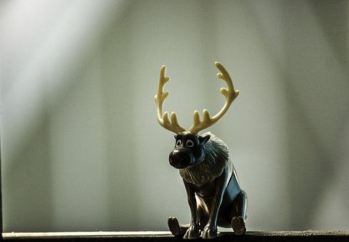 Deer, Reindeer, Animal, Cartoon, December, Rudolph