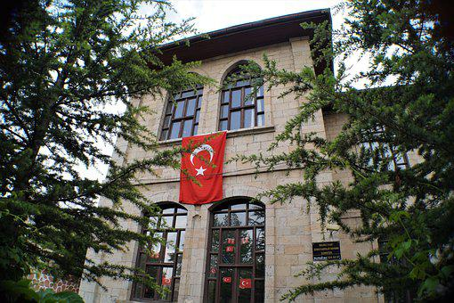 Turkish Flag, Building, Architecture, Date, Window