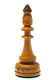Bishop, Chess, Pawn, White, White Background, Bierki