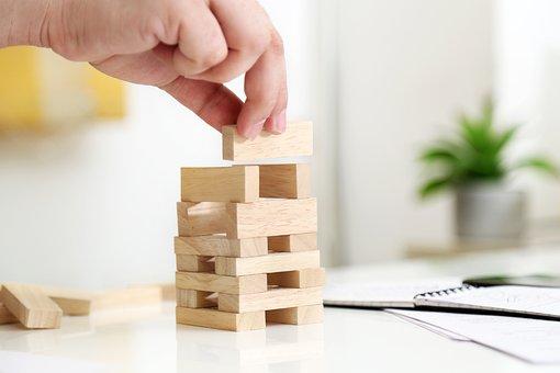Activity, Background, Block Game, Build, Businessman