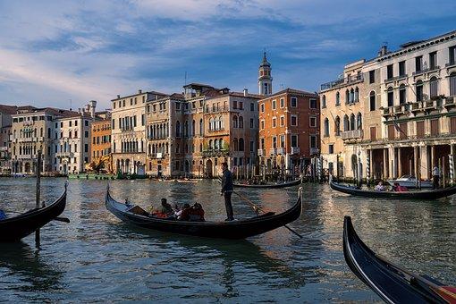 Venice, Italy, Water, Canal, Boats, Venezia, Gondola