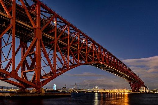 Landscape, Night View, Bridge, Truss Bridge