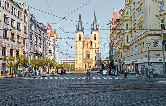 Landscape, Urban, Church, The Towers, City, Buildings