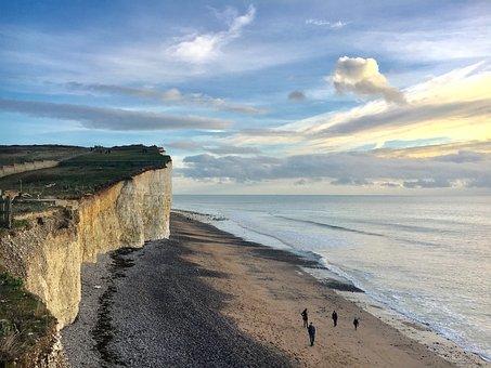 Cliffs, Eastbourne, Cliff, Sussex, Coastline, Coast