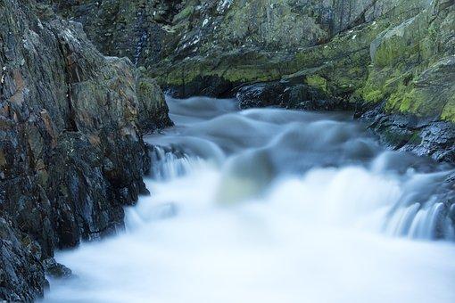 Cascade, Rocks, Water, Nature, Landscape, Current