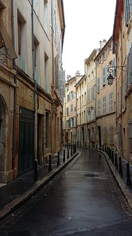 Pathway, Alley, Tight, Curve, Buildings
