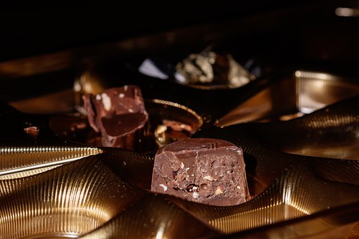 Chocolates, Chocolate, Dessert, Packaging, Gold, Box